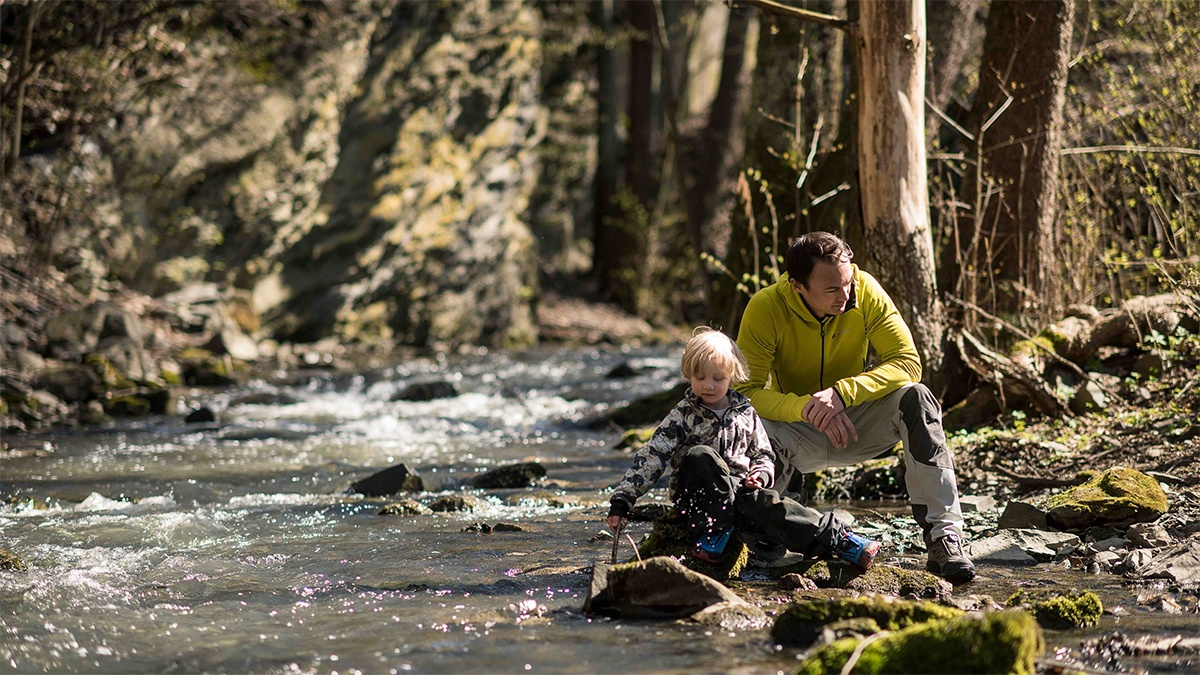 Boy and Dad at river