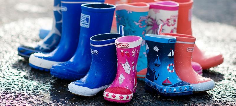 Vedlikehold av gummistøvler til barn